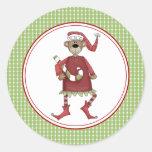 El sobre del navidad de Beary sella a los Etiqueta Redonda