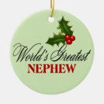 El sobrino más grande del mundo ornaments para arbol de navidad