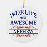 El sobrino más impresionante del mundo ornamentos de navidad