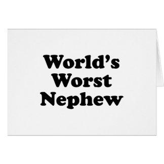 El sobrino peor del mundo tarjeta de felicitación