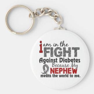 El sobrino significa el mundo a mí diabetes llavero redondo tipo pin