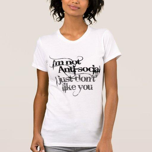El Social no anti Im apenas no tengo gusto de Camiseta