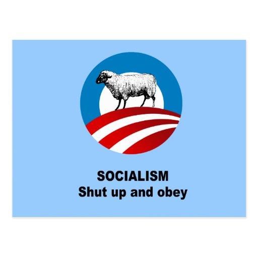 El socialismo - cerrado y obedece postales