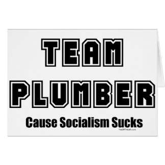 El socialismo de la causa del fontanero del equipo tarjeton