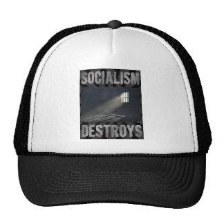 El socialismo destruye gorras de camionero