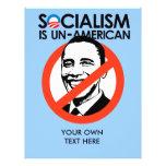 El socialismo es antiamericano tarjetas informativas