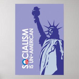 El socialismo es antiamericano posters