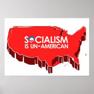El socialismo es antiamericano poster