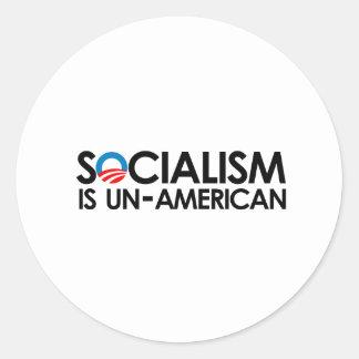 El socialismo es antiamericano etiqueta redonda