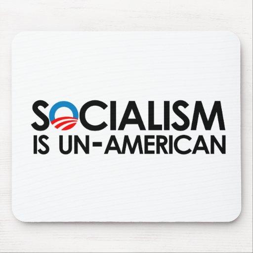 El socialismo es antiamericano alfombrillas de ratones
