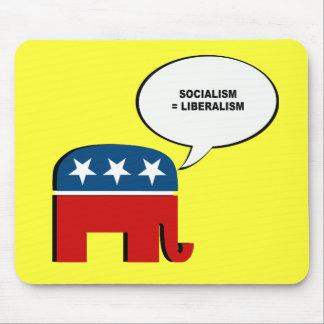 El socialismo iguala liberalismo tapete de ratón