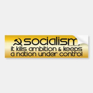 El socialismo mata a la ambición (la pegatina para pegatina de parachoque