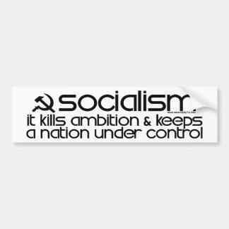 El socialismo mata a la ambición (la pegatina para etiqueta de parachoque