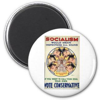 El socialismo significa a inspectores todo alreded imán redondo 5 cm