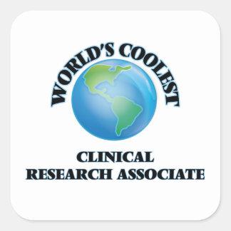 El socio de la investigación clínico más fresco pegatina cuadrada