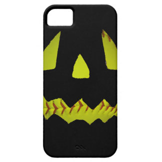 El softball amarillo Jack O'Lantern hace frente iPhone 5 Case-Mate Protectores