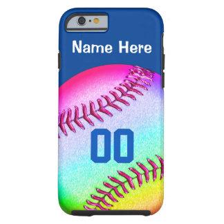 el softball del iPhone 6 encajona su NOMBRE, Funda Para iPhone 6 Tough