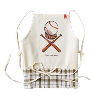 El softball/el béisbol Rogelio alegre tiene gusto Delantal Zazzle HEART