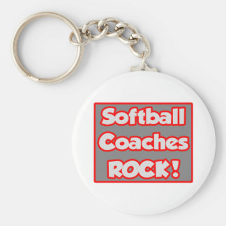¡El softball entrena la roca! Llaveros Personalizados