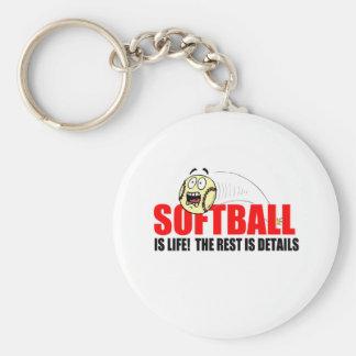 El softball es vida llaveros personalizados