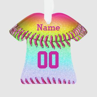 El softball personalizado adorna SU NÚMERO y