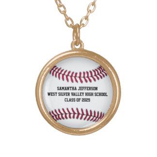 El softball personalizado del béisbol se divierte collar dorado