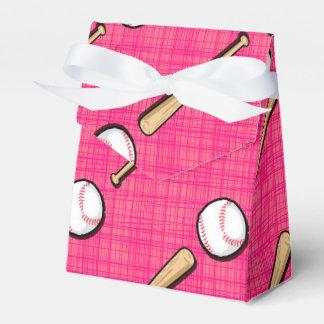 El softball rosado brillante se divierte el modelo cajas para regalos de fiestas