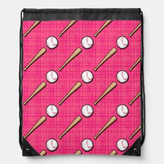 El softball rosado brillante se divierte el modelo mochila