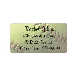 El softball se divierte etiquetas de dirección del