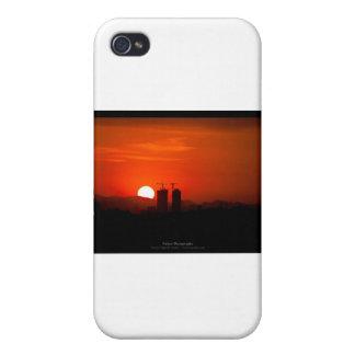 El sol 006 - puesta del sol en la ciudad iPhone 4/4S fundas