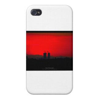 El sol 007 - puesta del sol en la ciudad iPhone 4/4S fundas