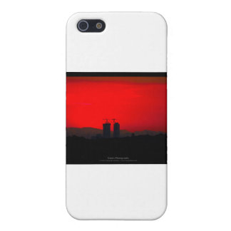 El sol 007 - puesta del sol en la ciudad iPhone 5 cobertura