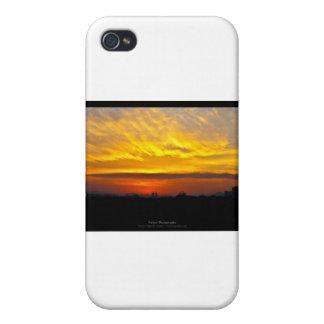 El sol 008 - puesta del sol en la ciudad iPhone 4/4S fundas