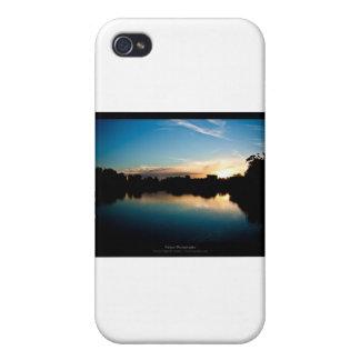 El sol 010 - puesta del sol en la ciudad iPhone 4/4S carcasas