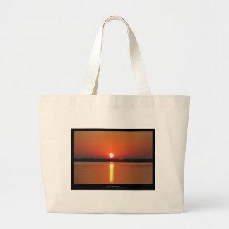 El sol 012 - salida del sol en la playa bolsa tela grande
