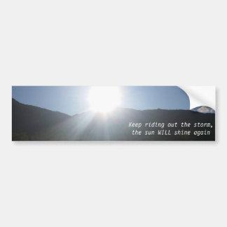 El sol brillará a la pegatina para el parachoques pegatina para auto