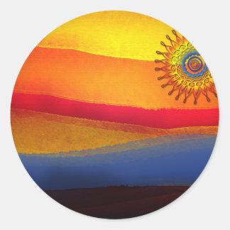 El sol classic round sticker