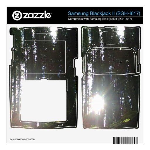 El sol en el bosque samsung blackjack II skin