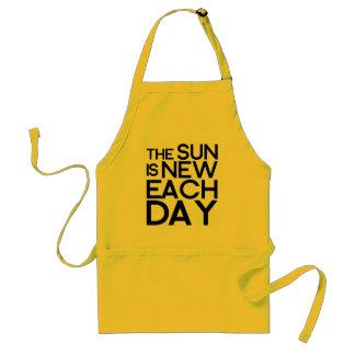 el sol es nuevo cada día, heracletus delantales