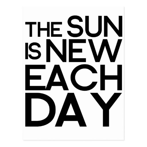 el sol es nuevo cada día, heracletus postales