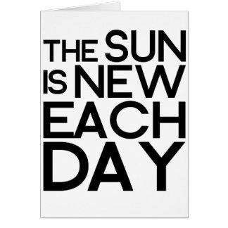 el sol es nuevo cada día, heracletus tarjeta de felicitación