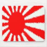 El sol naciente de Japón Alfombrillas De Ratones