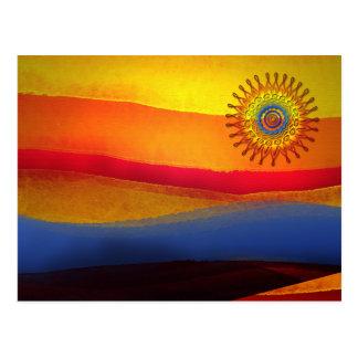 El sol postcard