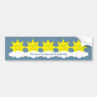 El sol sale en pegatina para el parachoques de la pegatina de parachoque