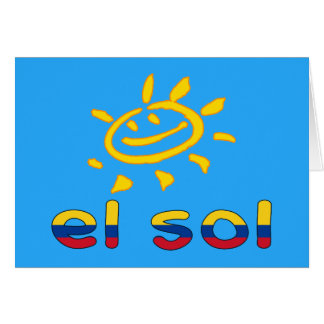 El Sol The Sun in Colombian Summer Vacation Card