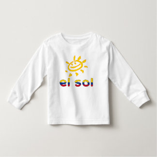 El Sol The Sun in Colombian Summer Vacation Toddler T-shirt