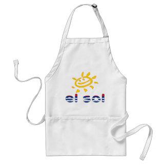 El Sol - The Sun in Cuban Summer Vacation Adult Apron