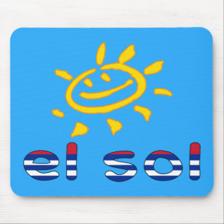 El Sol - The Sun in Cuban Summer Vacation Mouse Pad