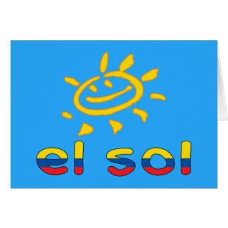 El Sol - The Sun in Ecuadorian Summer Vacation Card