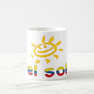 El Sol - The Sun in Ecuadorian Summer Vacation Coffee Mugs